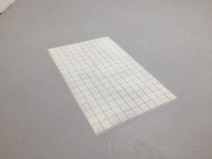 Kreide gesiebt auf Boden chalk